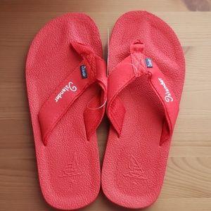 Islander Women's Red Rubber Slip On Flip flops
